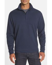 Cutter & Buck - Blue 'decatur' Quarter Zip Pullover for Men - Lyst