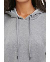 Forever 21 - Gray Hooded Sweatshirt Dress - Lyst