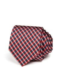 Paul Smith - Red Cross Check Skinny Tie for Men - Lyst