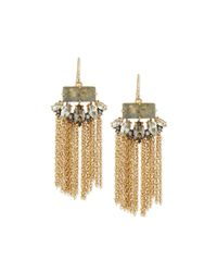 Alexis Bittar | Metallic Elements Navette Tassel Earrings | Lyst