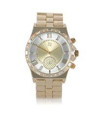 River Island - Metallic Gold Tone Baguette Embellishment Watch - Lyst