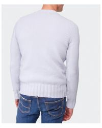 Stone Island - Gray Crew Neck Sweater for Men - Lyst