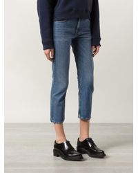 Acne Studios - Blue Pop Straight Cropped Denim Jeans - Lyst
