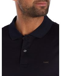 Michael Kors | Blue Regular Fit Mercerised Stripe Polo for Men | Lyst