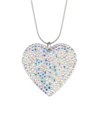 Mikey | Blue Flat Heart Necklace | Lyst
