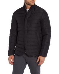 Armani | Black Formal Full Zip Bomber Jacket for Men | Lyst