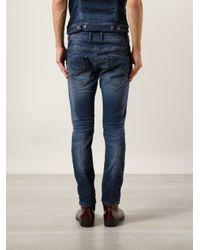 DIESEL - Blue Krooley Sweat Jeans for Men - Lyst