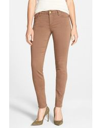 Kut From The Kloth | Brown 'Diana' Stretch Twill Skinny Pants | Lyst