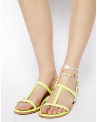 ASOS - White Crochet Flower Anklet Pack - Lyst