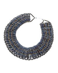 Nakamol | Blue Wide Collar Necklace-montana Mix | Lyst
