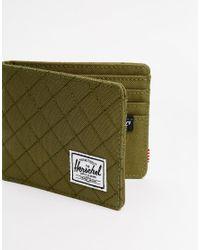 Herschel Supply Co. | Green Roy Quilted Billfold Wallet for Men | Lyst