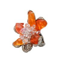 Arunashi | Red Wild Orchid Fire Opal Ring | Lyst