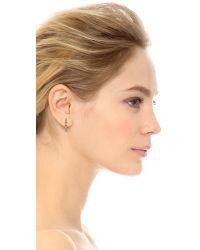 Aurelie Bidermann - Metallic Enamel Mini Hoop Earrings - Gold - Lyst
