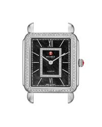 Michele - Metallic 'deco Ii' Diamond Dial Watch Case - Lyst