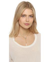Elizabeth Cole - Metallic Golden Glow Y Necklace - Lyst