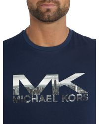 Michael Kors | Blue Regular Fit Graphic Logo T-shirt for Men | Lyst
