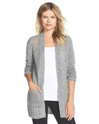 Make + Model | Gray Open Knit Long Cardigan | Lyst