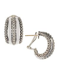 Lagos | Metallic Classic Double-row Hoop Earrings | Lyst