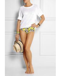 J.Crew - Yellow Roz Floral Print Bikini Briefs - Lyst