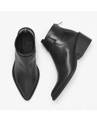 Helmut Lang - Black Leather Ankle Boots - Lyst