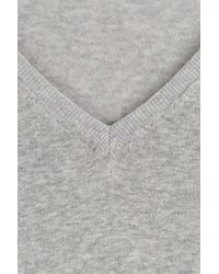 Closed - Gray Linen-cotton T-shirt - Grey - Lyst