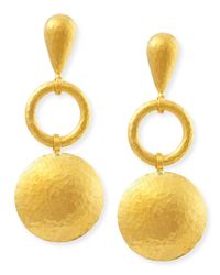 Gurhan | Metallic Long Lentil Drop Spell Earrings | Lyst