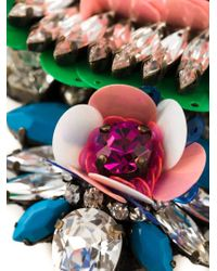 Shourouk - Multicolor 'apolonia Flower' Necklace - Lyst
