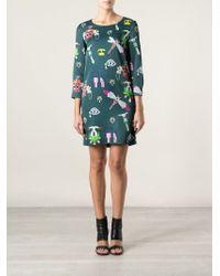 Mary Katrantzou | Green 'symbols' Shift Dress | Lyst