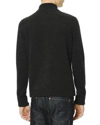 Valentino - Gray Cashmere Zipfront Sweater with Fur Panels On Front for Men - Lyst