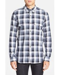 French Connection | Gray 'wilton County Check' Slim Fit Sport Shirt for Men | Lyst