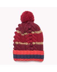 Tommy Hilfiger | Red Wool Blend Hat | Lyst