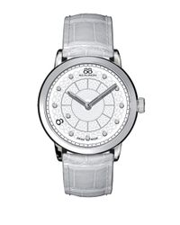 88 Rue Du Rhone | Ladies' Double 8 Origin White Leather Watch With Diamonds for Men | Lyst