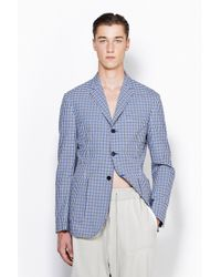 3.1 Phillip Lim - Blue Classic Fit Single Breasted Blazer With Patch Pocket for Men - Lyst