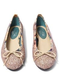 French Sole - Pink Champagne Yellow Henrietta Flats - Lyst
