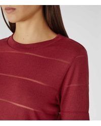 Reiss - Red Cassis Jersey T-shirt - Lyst