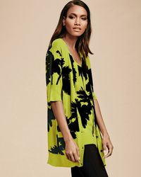 Berek - Green Miami-print Long Cardigan - Lyst