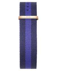 Daniel Wellington - Blue 'classic Swansea' 18mm Nato Watch Strap - Lyst