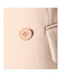 Stella McCartney - Natural Wool-blend Coat - Lyst