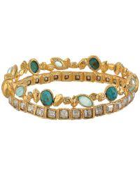 Alexis Bittar | Metallic Small Pierece Rock Crystal Hinge Bracelet | Lyst