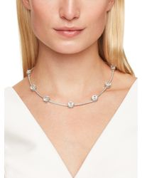 kate spade new york | White Clink Of Ice Short Scatter Necklace | Lyst
