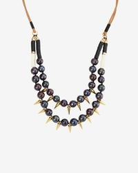 Lizzie Fortunato - Black Exclusive Sea Spike Double Pearl Necklace - Lyst