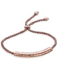 Monica Vinader | Natural Linear Friendship Bracelet | Lyst