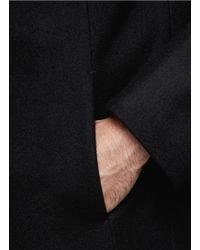 The Viridi-anne - Black Stand Collar Long Coat for Men - Lyst