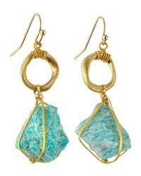 Nakamol - Blue Wrapped Stone Drop Earrings - Lyst