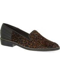 The Kooples - Multicolor Animal Print Fur Slippers - For Women - Lyst