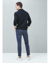 Mango | Blue Shawl Collar Cotton Cardigan for Men | Lyst