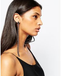 ASOS - Black Statement Mismatch Stone Set Earrings - Lyst