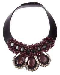 Marni | Red Crystal Collar Necklace | Lyst