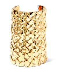 Jennifer Fisher | Metallic Xl Braid Gold-plated Cuff | Lyst