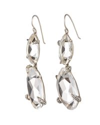Alexis Bittar - Gray Silver Gaze Marquis Fancy Cut Double Drop Earring You Might Also Like - Lyst